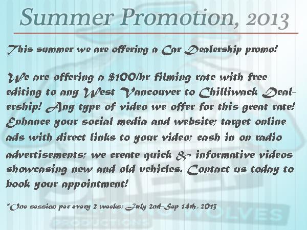 Summer Promo 2013